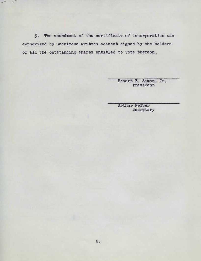 Palindrome corporation unanimous written consent of shareholders palindrome corporation unanimous written consent of shareholders certificate of incorporation 24 may 1965 xflitez Images
